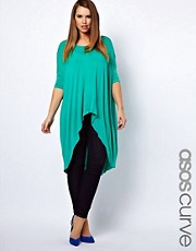 ASOS CURVE Exclusive Jersey Top With Dip Back