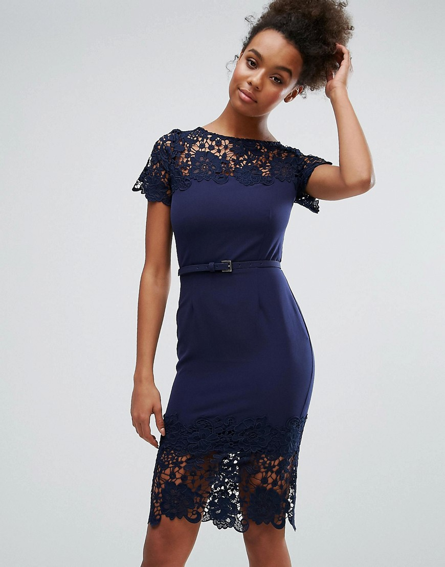 Paperdolls Lace Panel Bodycon Dress