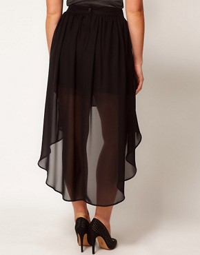 Image 2 ofASOS CURVE Skirt with Dipped Hem