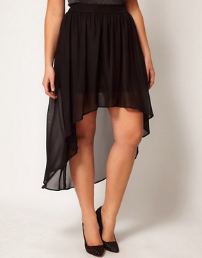 Image 4 ofASOS CURVE Skirt with Dipped Hem