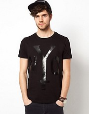 ASOS T-Shirt With Glossy NYC Print