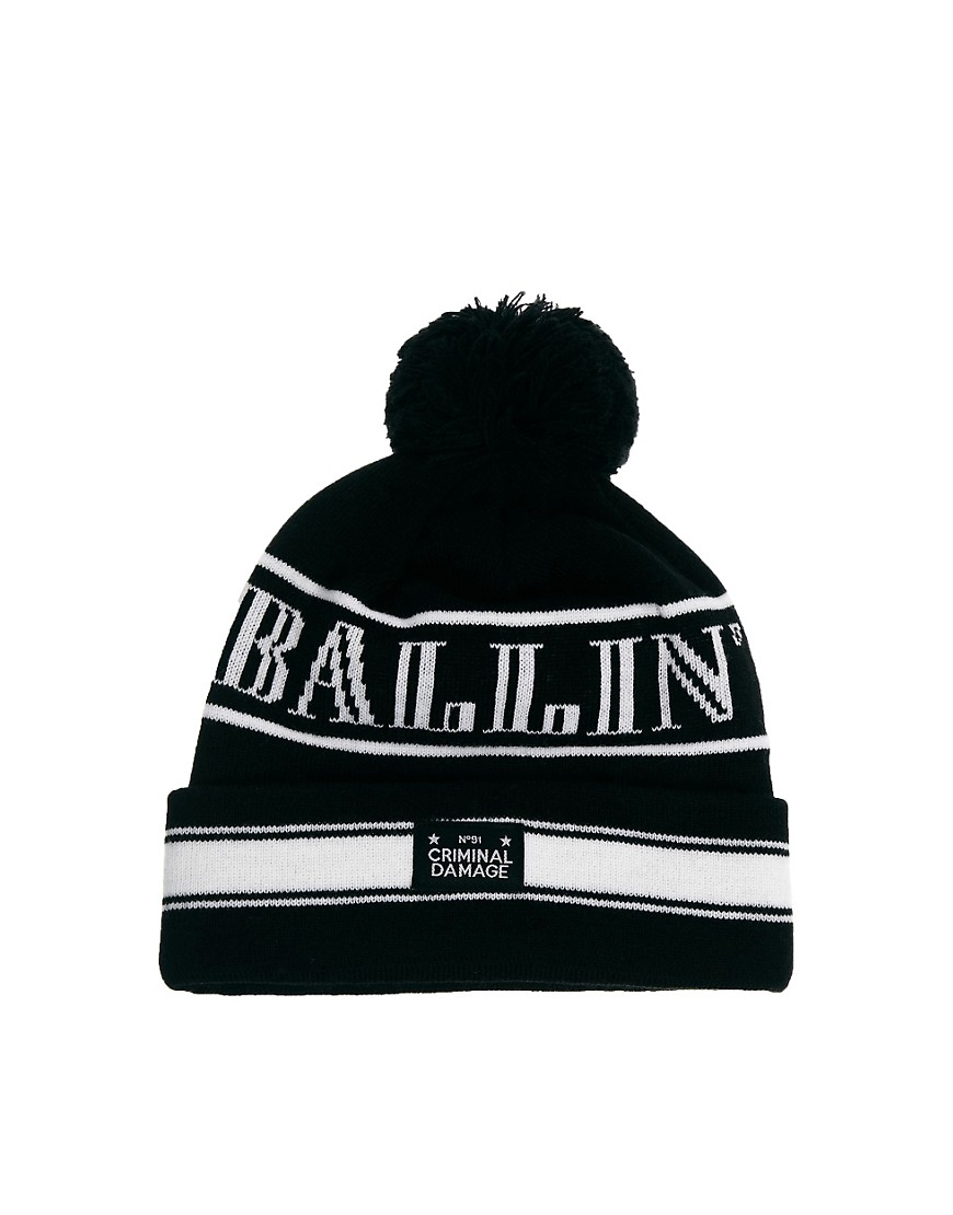 Image 1 of Criminal Damage Bobble Hat