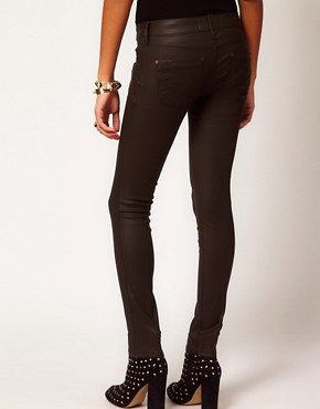 Image 2 ofRiver Island Ellys Skinny in Chocolate Coated Denim
