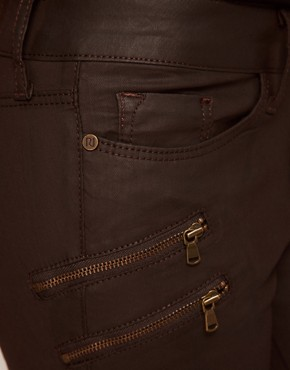 Image 3 ofRiver Island Ellys Skinny in Chocolate Coated Denim