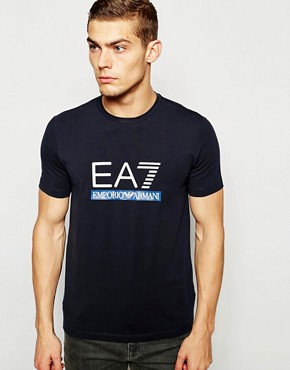 EA7 T-Shirt In Muscle Fit With 2 Colour Logo