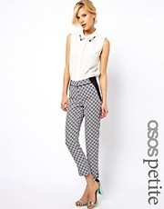 ASOS PETITE Exclusive Mono Pants In Geo Print