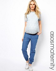 Pantalones de chndal vaqueros exclusivos de ASOS Maternity