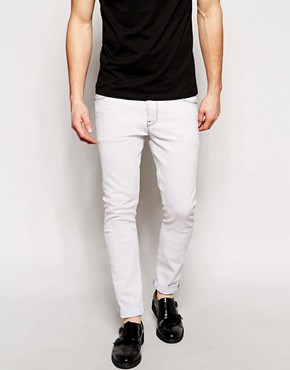 ASOS Super Skinny Jeans In Bleach Wash