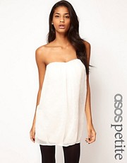 ASOS PETITE Exclusive Strapless Dress With Lurex Spots