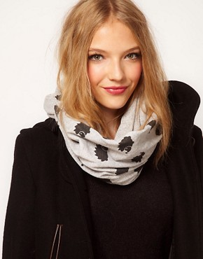 Image 1 of ASOS Hedgehog Print Snood