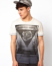 River Island Dip Dye T-Shirt