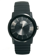 Boss by Hugo Boss  Schwarze Gummiarmbanduhr