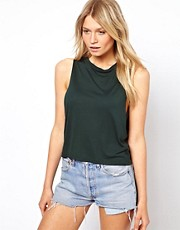 ASOS Cropped Tank Top with High Neck