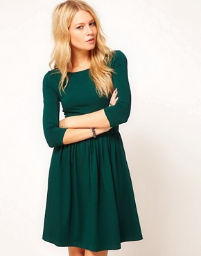 Image 1 ofASOS Skater Dress With Slash Neck