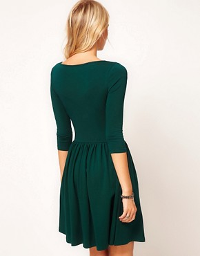 Image 2 ofASOS Skater Dress With Slash Neck