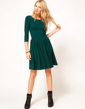 Image 4 ofASOS Skater Dress With Slash Neck