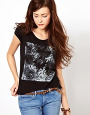 Wrangler Boot Print Cap Sleeve T-Shirt
