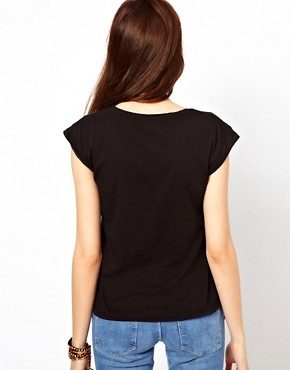 Image 2 ofWrangler Boot Print Cap Sleeve T-Shirt
