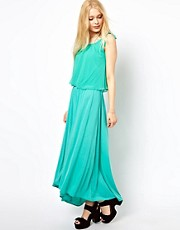 b + ab Maxi Dress With Double Layer Detail