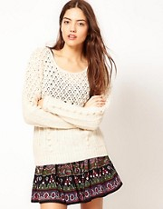 Vero Moda Pompom Trim Knitted Jumper