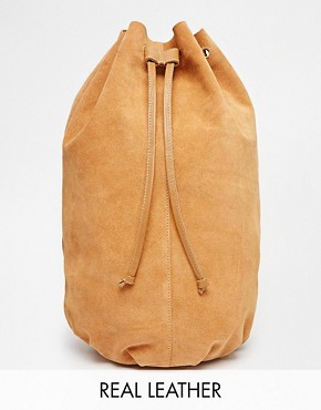 ASOS Suede Drawstring Cross Body Backpack