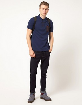 Image 4 ofFred Perry Polo Shirt Slim Fit Workwear Check Mix