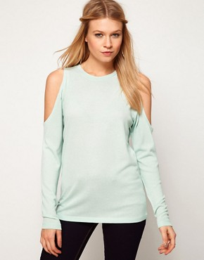 Image 1 ofASOS Top with Cold Shoulder