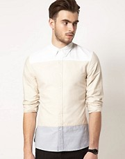 Camisa Oxford con paneles de ASOS