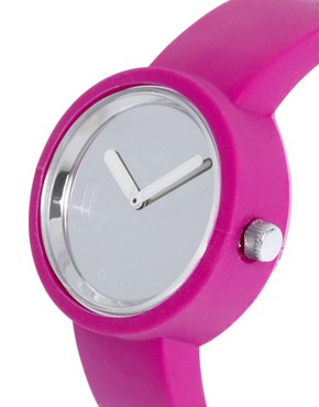 Image 2 ofO&#39;Clock Analogue Mirror Silicone Purple Watch