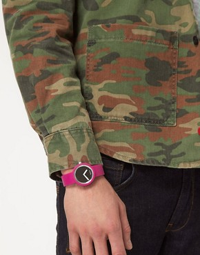 Image 3 ofO&#39;Clock Analogue Mirror Silicone Purple Watch