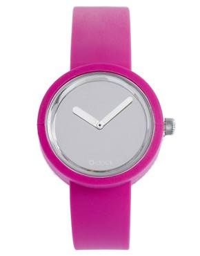 Image 1 ofO&#39;Clock Analogue Mirror Silicone Purple Watch