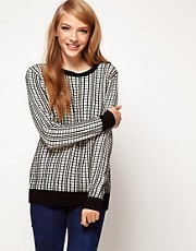 ASOS Jumper In Grid Knit