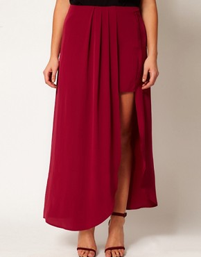 Image 4 of ASOS CURVE Exclusive Split Thigh Maxi Skirt
