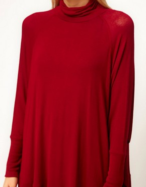 Image 3 ofASOS Top with Circle Roll Neck