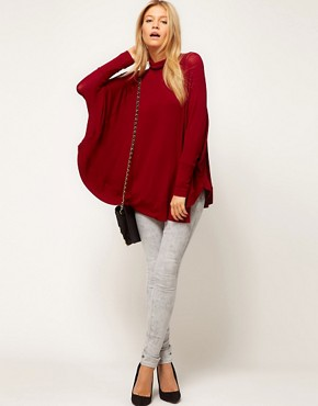 Image 4 ofASOS Top with Circle Roll Neck
