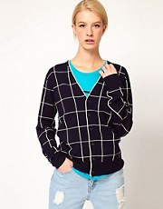 United Bamboo Checked Cardigan