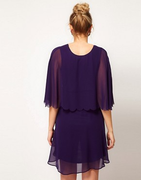 Image 2 ofASOS Maternity Chiffon Dress With Scalloped Edge
