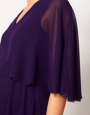 Image 3 ofASOS Maternity Chiffon Dress With Scalloped Edge