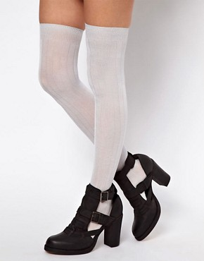 Image 1 ofASOS Slinky Over The Knee Socks