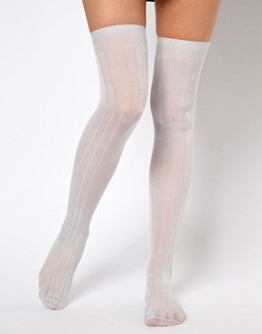Image 2 ofASOS Slinky Over The Knee Socks