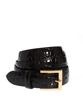 Image 1 ofBlack &amp; Brown London Nadine Leather Slim Belt