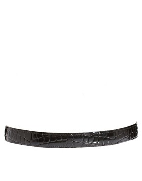 Image 3 ofBlack &amp; Brown London Nadine Leather Slim Belt