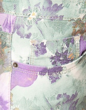 Image 3 ofASOS Skinny Jeans In Floral Gerbera Print #4