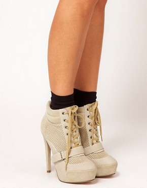 Image 3 ofASOS ADRIFT Platform Ankle Boots with Suede Mix