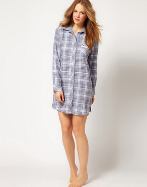 Image 4 ofEsprit Nordic Check Night Shirt