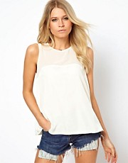 ASOS Swing Tank With Sheer Panels And Keyhole
