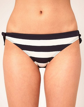 Image 1 ofMarc by Marc Jacobs Bella Stripe Tie Side Bikini Bottom