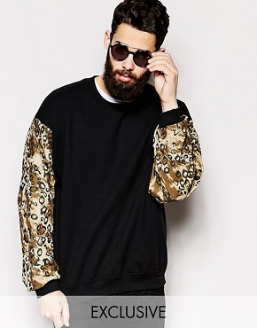 Reclaimed Vintage Sweatshirt With Contrast Sleeves