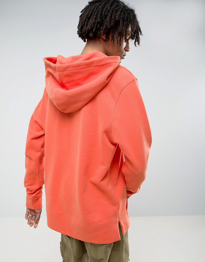 Mennace Oversized Hoodie In Dark Orange - Orange 10