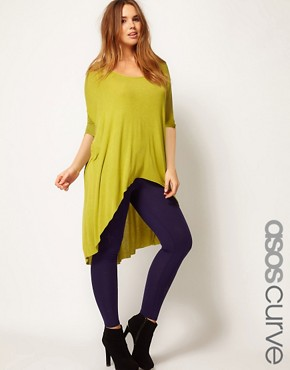 Image 1 ofASOS CURVE Exclusive Jersey Dip Back